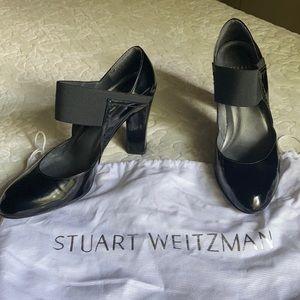 Stuart Weitzman black heels size 6 with dust cover